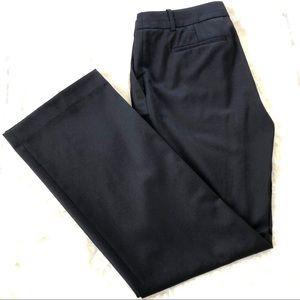 J Crew 100% Wool Small Petite Black City Fit Pants